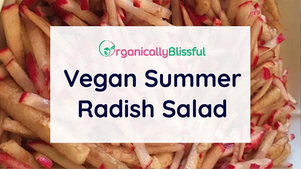 vegan radish salad