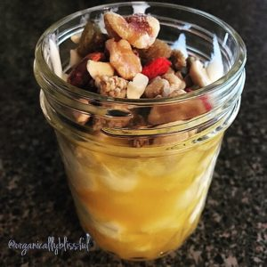 3 Ingredients Mason Jar Breakfast: Organic Mango Parfait