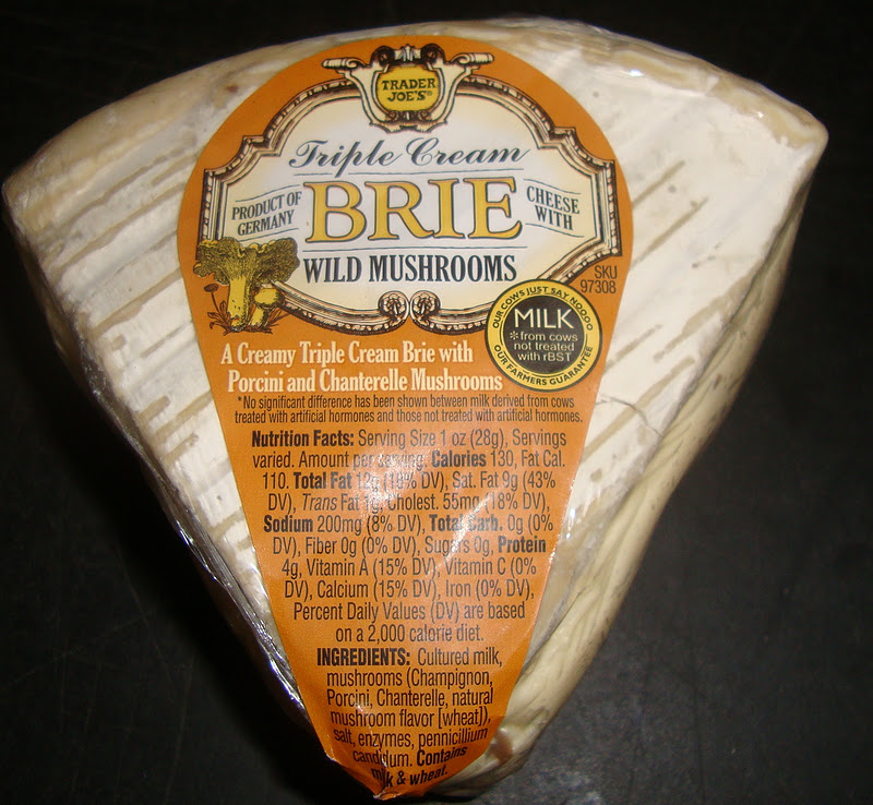 Trader Joe's triple cream wild mushroom brie
