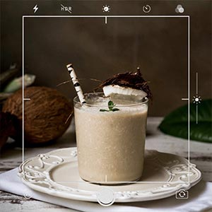 coconut meat thickens your smoothie