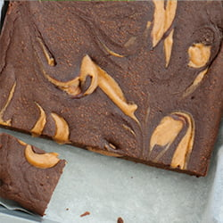 pumpkin swirl brownie