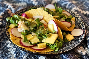 tropical lobster taco